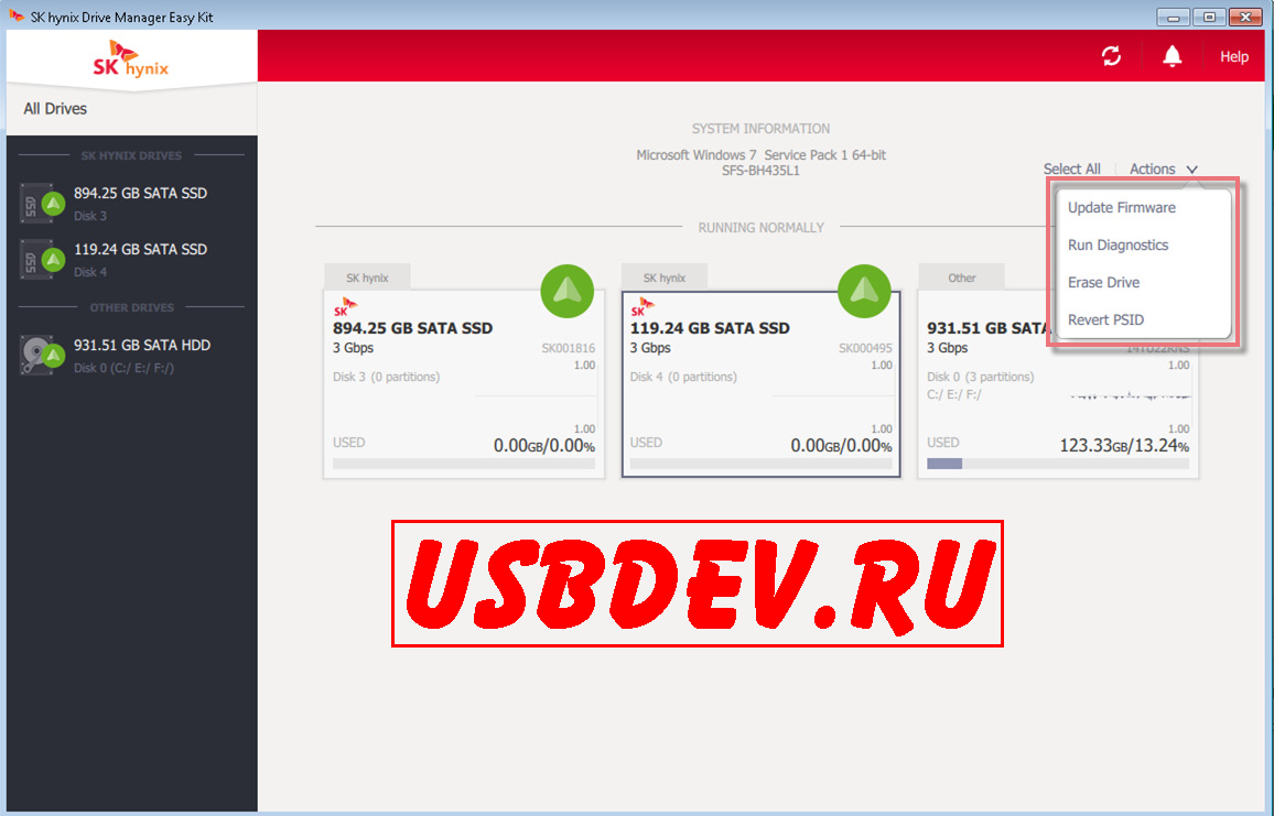 SK hynix Drive Manager Easy Kit User Guide – [USBDev ru]